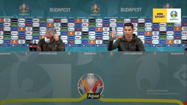 Ronaldo saat konferensi prees (BBC SPORT)