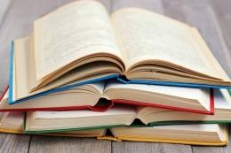 Tumpukan buku, cara menyimpan buku agar terbebas dari kutu buku (foto dari edukasi.kompas.com)
