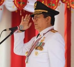 Mantan Gubernur Longki Djanggola. Doc Adiman Humas Sulteng