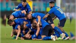 Timnas Italia Pastikan Lolos 16 Besar (Photo Credit: Twitter/@EURO2020)