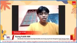 Muhammad Arfah Berbagi Pengalaman Sebagai OPYMK (dok. KBR Indonesia)