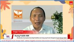 Angga Yuniar Memaparkan Kegiatan NLR (dok. KBR Indonesia)