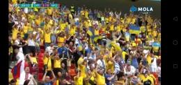 Pendukung Ukraina. Screenshot MOLA tv