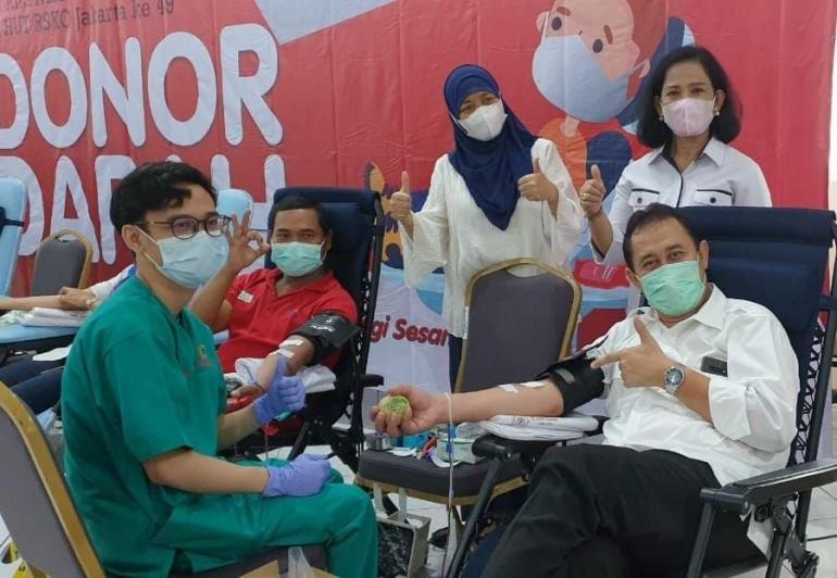 Deskripsi : RSKO Jakarta Adakan Donor Darah I Sumber Foto: dokpri