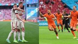 Tim Belgia dan Belanda lolos ke babak 16 besar Euro 2020 (Sumber: kaltim.tribunnews.com)