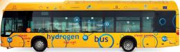 Sebuah bus berbahan bakar gas Hidrogen, sumber: Periodic Table Book - A Visual Encyclopedia, hlm. 21.