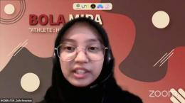 Kegiatan Sharing Bersama Ardi Idrus yang Dipandu Oleh Moderator/Dok BEM MIPA