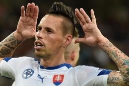 Marek Hamsik, gelandang sekaligus kapten Timnas Slovakia di Euro 2020| Sumber: PHILIPPE HUGUEN/AFP via Kompas.com