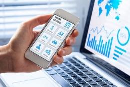 Ilustrasi mobile banking. Sumber: Shutterstock via Kompas.com