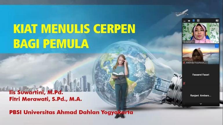 Pelatihan penulisan cerpen (Dok PBSI Universitas Ahmad Dahlan)