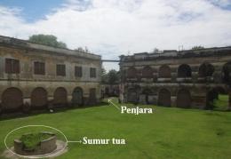 Keterangan: di dalam bangunan terdapat bangunan penjara yang berfungsi sebagai tempat menahan, menawan musuh (pejuang kita) yang tertangkap/www.casmudiberbagi.com