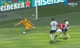 Gol oleh Fiola untuk Hungaria. Screenshot MOLA tv