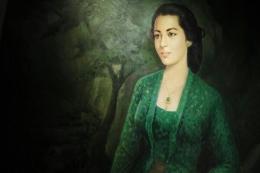 Ilustrasi: Lukisan gadis dalam kebaya hijau karya M.Thamdjidin dalam koleksi seni rupa Istana Kepresidenan. Sumber: lifestyle.bisnis.com