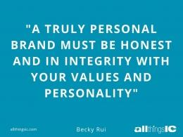 Foto: Quote tentang integritas dalam personal branding. (Sumber: All Things IC)