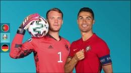 Captain masing-masing tim, Manuel Neuer dan Cristiano Ronaldo yang akan bertemu malam ini. Sumber : UEFA