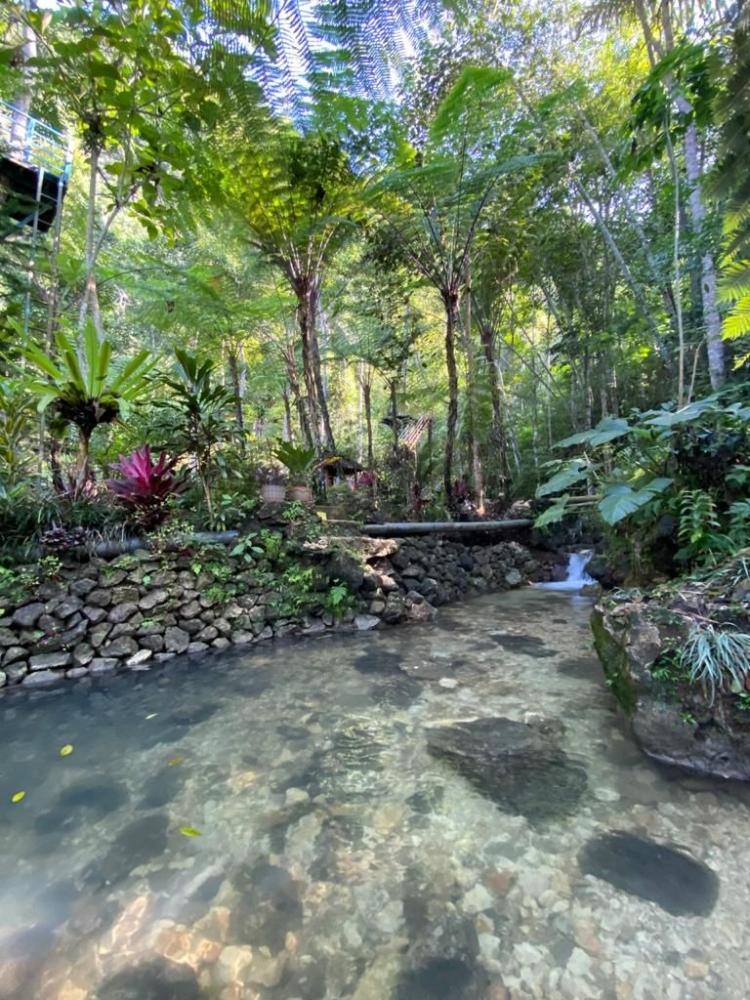 Foto kolam pemandian yang ada di Ekowisata Sungai Mudal, Ahad (20/6/2021) Dokpri