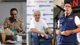 Anies Baswedan, Ganjar Pranowo, dan Ridwan Kamil (Sumber : tribunnews.com)