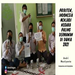 Deskripsi : Indonesia Menjadi Negara Paling Dermawan di Dunia 2021 I Sumber Foto : dokpri