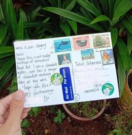 kartu pos dengan prangko dari Kanada | sumber: dokumentasi pribadi