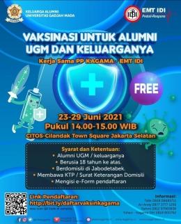 Program Vaksinasi dari KAGAMA di Cilandak Town Square