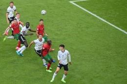 Pertandingan Portugal vs Jerman pada Euro 2020 di Allianz Arena, Muenchen, Jerman, Sabtu (19/6/2021) malam WIB. (AFP/MATTHIAS HANGST dipublikasikan kompas.com)