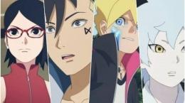 Boruto, Sarada, Mitsuki, dan Kawaki, Tim 7 yang baru di anime Boruto episode 205