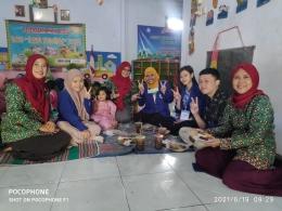 Peserta KKN Desa Juwet Universitas Negeri Malang beserta Guru Paud Tunas Harapan/dokpri