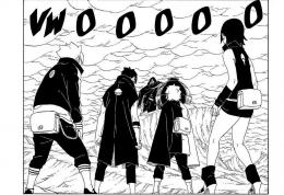 Boruto, Kawaki, Mitsuki, dan Sarada berupaya menyelemarkan Naruto. Via mangasee123