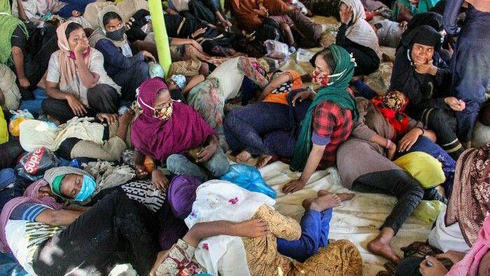Kondisi pengungsi Rohingya/ANTARA FOTO/Rahmad
