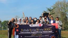 Mahasiswa KKN Universitas Negeri Malang ajak senam sehat dan pembagian Doorprize