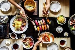 ilustrasi makanan Jepang. (sumber: THINKSTOCK via kompas.com)