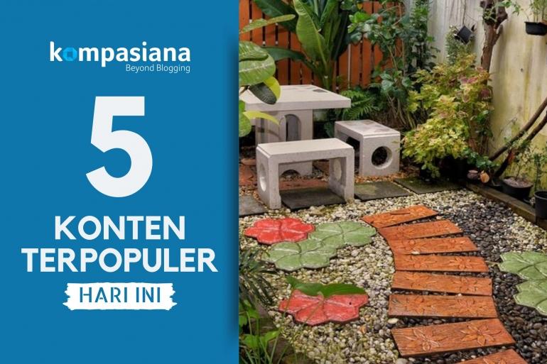 Ilustrasi taman rumah, halaman rumah. (Diolah kompasiana dari sumber: SHUTTERSTOCK/CAMERA_BRAVO via kompas.com)