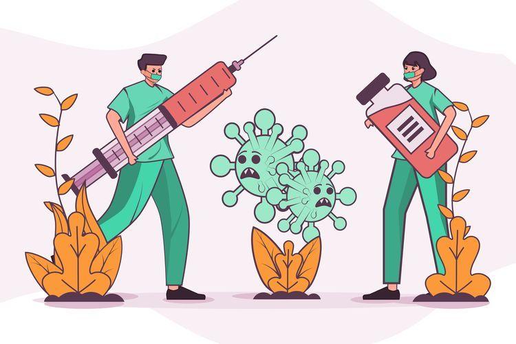 Dokter yang Sedang Mempersiapkan Vaksin Untuk Masyarakat - Sumber: Kompas