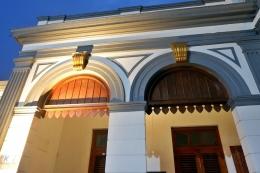 Suasana khas Kasunanan Surakarta amat terasa di stasiun ini. - Dokumentasi Pribadi