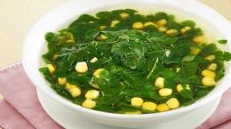 Sayur daun kelor yang diaplikasikan dengan irisan jagung manis (foto dari style.tribunnews.com)