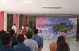 Deskripsi : Plt Dirut RSKO Jakarta, dr.R.Soeko W Nindito D., MARS I Sumber Foto : dokpri