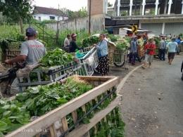 Pasar sayur khusus pengepul di Desa Kedungrejo, Tumpang-Malang. Dokpri