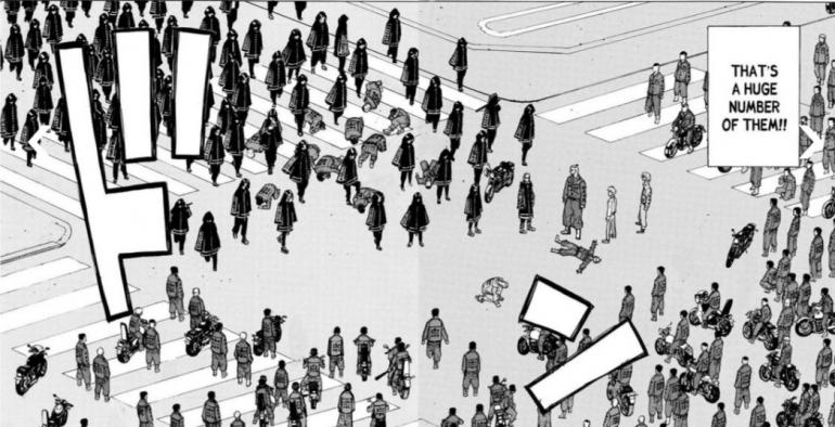 Draken yang terkapar tak berdaya, dan pertarungan Brahman vs Rokuhara di manga Tokyo Revengers chapter 211 / screenshot dari mangafreak.net