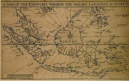 Peta Kuno Kepulauan Nusantara (Sumber: Britis Library, Thomas Bowrey 1701; Dlm: Golden Letters, Writing Tradition of Indonesia)