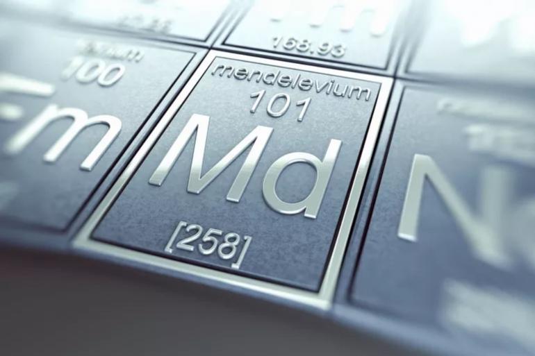Mendelevium. Sumber: https://www.thoughtco.com/mendelevium-facts-4126518