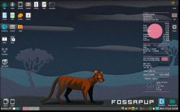 Tampilan desktop Puppy Linux (Sumber: https://puppylinux.com)