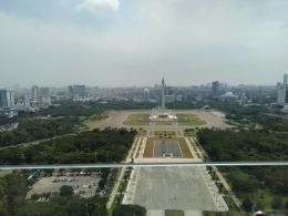 Jakarta dilihat dari Lantai 24, Perpusnas RI (dokpri)