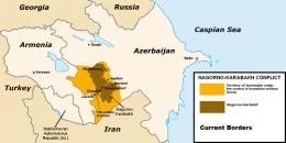 Peta sebaran konflik Nagorno-Karabakh (Ilustrasi : DNA India)