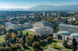 Palais des Nations, Jenewa. Sumber: Loris von Siebenthal / Geneve Tourisme