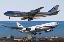Air Force One & Putin Force One. Sumber: Aerotime news / www.aerotime.aero