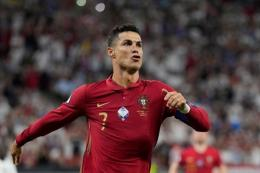 Cristiano Ronaldo (sumber: DARKO BANDIC/AFP via bola.kompas)