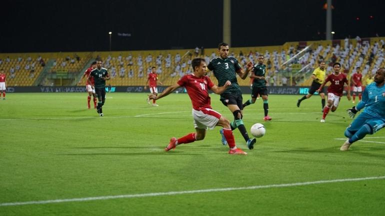 Egy Maulana Vikri beraksi ketika melawan Uni Emirat Arab di Kualifikasi Piala Dunia 2022 (Foto PSSI.org)