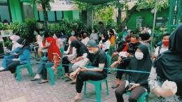 Antrian Vaksinasi Untuk Seluruh Warga Sunter Agung, Tanjung Priok, Kota Jakarta Utara (Sumber: dokpri)