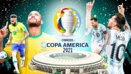 Neymar dan Lionel Messi, bintang Brasil dan Argentina, dua tim unggulan Copa America 2021 (Marca.com)