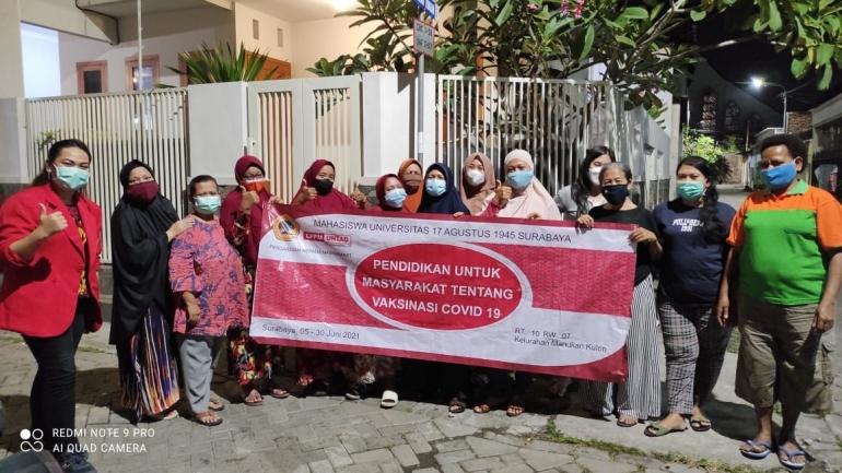 Ibu - Ibu PKK RT 10 RW 007 Kelurahan Manukan Kulon Kecamatan Tandes - Surabaya - dokpri